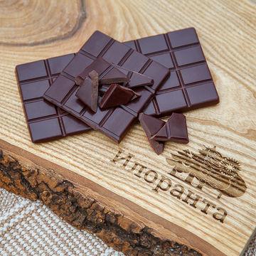 Живой горький шоколад ручной работы 80 г